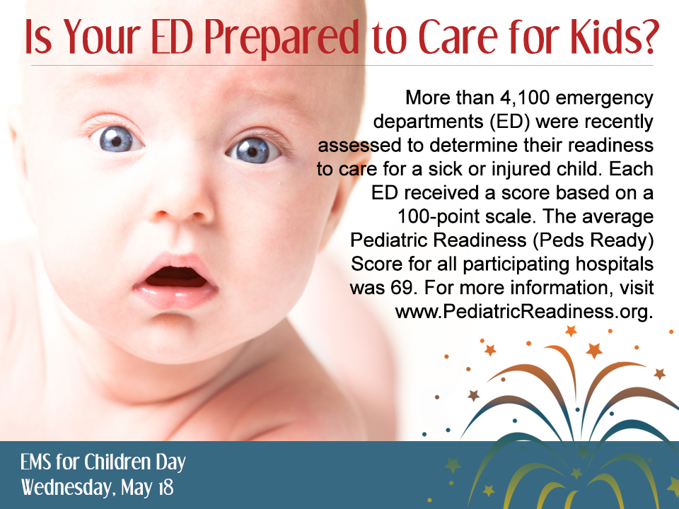 is your emergency department prepared to care for kids EMS for children day