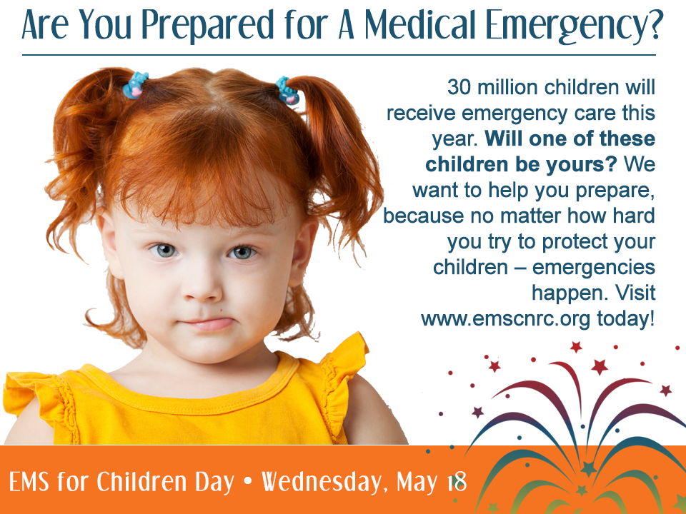 EMS for Children Day are you prepared for a medical emergency