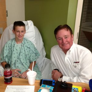richard childress hospital visit pediatric trauma survivor injured child