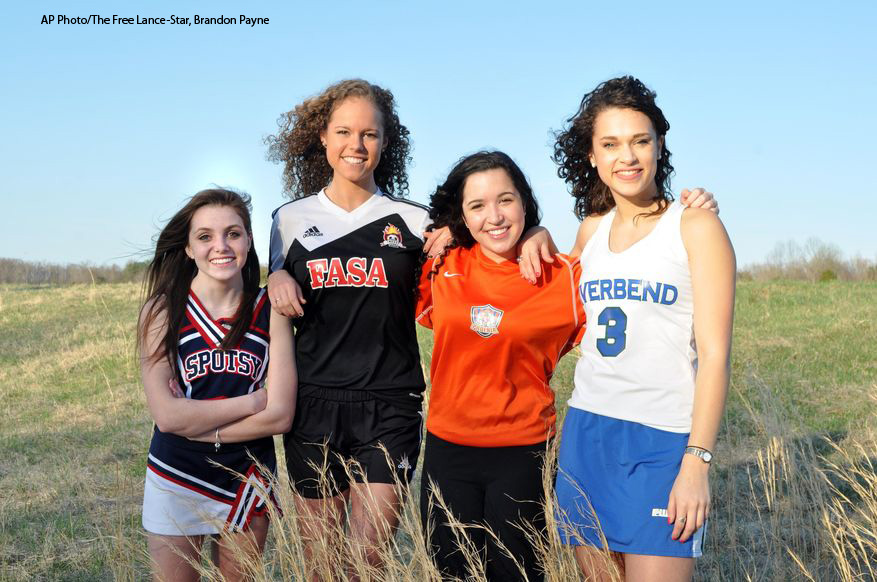 Cailin Davis, Emily Hunter, Katie Mueda, Brie Boothby youth athlete sports concussion traumatic brain injury