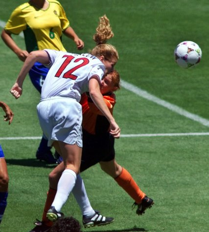 Cindy Parlow Cone heading soccer ball concussion recognition