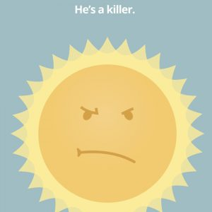 sunstroke heatstroke kid in car save kids he's a killer sun hot heat safety