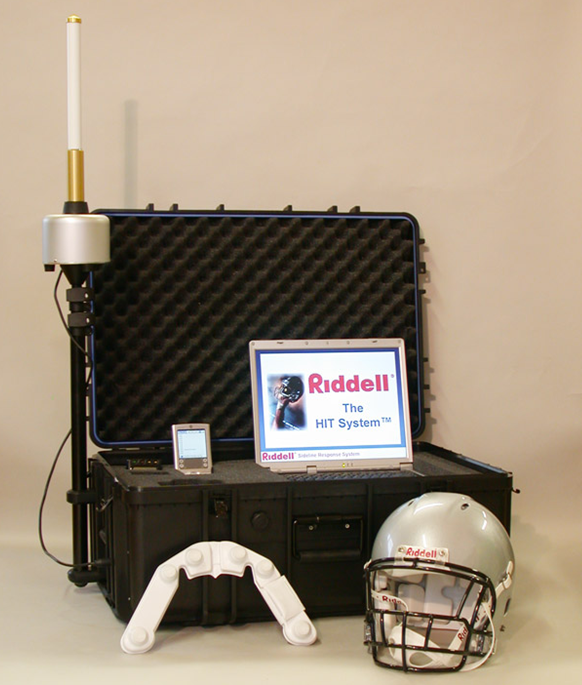 HITS system youth football itakl riddell head impact helmet sensor