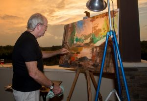 childress vineyards sunset art